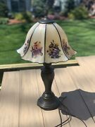2000 Glynda Turley Hand Painted Shade Floral Table Lamp