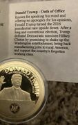 Oath Of Office - Speeches President Donald Trump Coin Copper Layered In 24k Gold