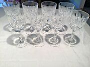 Hawkes Mystic Water Goblets Set Of 8 Signed On Foot