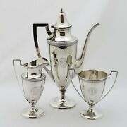 And Co.service For Coffeeand039 Silver Sterling 925 Three Piece Gr. 696