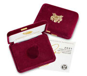 2021-w Proof 5 Type 1 American Gold Eagle Box Ogp And Coa No Coins
