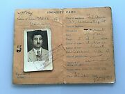 Palestine Pre-state Of Israel Id Document 1946 Photo Jewish Stamps Government