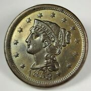 1853 1c Braided Hair Large Cent Collectible Numismatic Coin Jc99