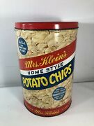 Vtg Mrs Kleinand039s Potato Chip Tin Can Advertising Country Kitchen Collectible 11