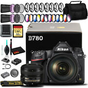 Nikon D780 Dslr Camera With 24-120mm 50mm Lens 32gb Sd And More Intl Model