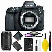 Canon Eos 6d Mark Ii Dslr Camera Body Only 3 Piece Filter Kit Intl Model W/can