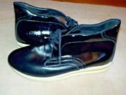 Mens Gourmet Nfn L'otto Patent Leather Sneakers Ankle Boots Shoes 13 Nwot