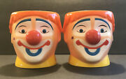 2pc Set Ringling Brothers Barnum And Bailey Circus Clown Souvenir Cups 16oz