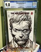 The Walking Dead Deluxe 1 Cgc 9.8 Red Foil Bandw Sketch 2nd Print Variant Cvl Twd