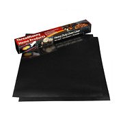 2 Pack Large Thick Heavy Duty Non Stick Teflon Oven Liners Mat 17x 25 Bpa ...