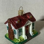Old World Blown Glass Christmas Tree Ornament House First Home Newlywed Realtor