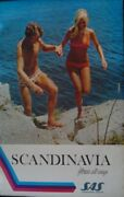 Sas Airlines Young Scandinavia Vintage Travel Poster 1971 Nm 25x40