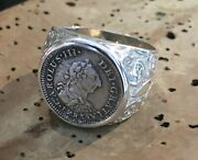 El Cazador Shipwreck Treasure Coin Pirate Piece Of Eight Ss Ring Authentic 1/2r