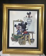 Limited Edition Ceramic Disney Mickey Mouse Self Portrait, Very Rare, Framed