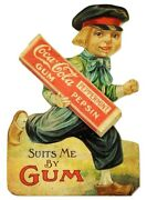 Coca Cola Peppermint Chewing Gum Heavy Duty Usa Made Metal Advertising Sign