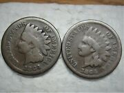 1864 Indian Head Cents One With L And One No L