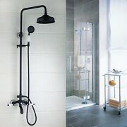 Orb Rain Shower Faucet Set Round Head Mixer Hand Held Spray Tub Wall Mounted Tap
