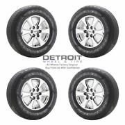 18 Ford F150 Pvd Bright Chrome Wheels Rims And Tires Oem Set 4 2018-2020 10168