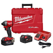 M18 Fuel 18-volt Lithium-ion Brushless Cordless 1/4 In. Hex Impact Driver Kit Wi