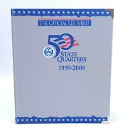 Official Us Mint 50 State Quarters 1999-2008 Collection Book See Pictures