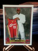 Authentic 2003-04 Topps Lebron James Rookie Card\mt\free Shipping