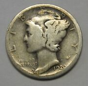 1920-d Mercury Head Silver Dime In Lower Grade Ideal For Beginning Collectors