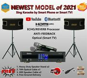 Youtube Bluetooth Smart Tv Hdmi 4k Karaoke System Echo And Reverb Optical Csv-450