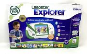 Leap Frog Leapster Explorer Learning Game System 39100 - Green White W/ Box