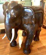 Beautiful Antique Hand Carved Wooden Elephant Chair Family Heirloom Thailand