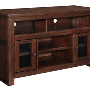 Saltoro Sherpi 2 Door Wooden Tv Stand With 2 Cabinets And Adjustable Shelf