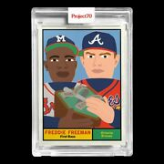 Topps Project 70 Card 178 - Freddie Freeman By Keith Shore - Presale