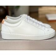 Jigsaw Amour Leather Trainers White Lace Up Size 7 Eur 40 Rrp Andpound98