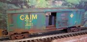 O Scale Lionel Custom Weathered Candim Chiicago 19237 Box Car With Containers Load