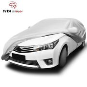 Yitamotor Universal Fit Car Cover Breathable All Weather Water Resistant Shelter