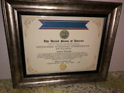 Cia - Distinguished Intelligence Commemorative Service Medal Certificate Type-1