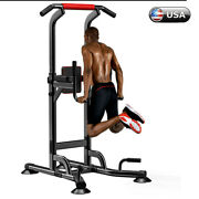 Dip Station Pull Ups Bar Power Tower Strength Training Indoor Workout Sports