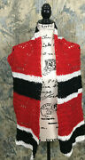 Santa Mouse Handmade Menand039s Crochet Mickey Red Black White Style Fashion Scarf
