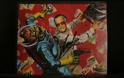 Mars Attacks Stan Strikes Print Signed By Stan Lee With Coa - Excellent Cond