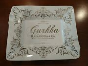 Brand New Gurkha Cigar Two Finger Ashtray White Limited Edition Of 500