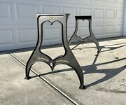 28andrdquo Dining Table/desk Height Industrial Cast Iron Table Legs Base Los Angeles