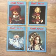Ufdc Doll News 4 Magazine Lot Complete 1990 Spring Summer Fall Winter Paper