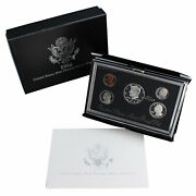 1998 S Proof Set Premier Black Box And Coa 5 Coins 90 Silver Kennedy Us Mint