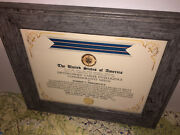 Cia - Distinguished Career Intelligence Commemorative Medal Certificate Type-1