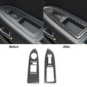 For Dodge Challenger 2008-2014 Carbon Fiber Window Lift Switch Panel Cover Trim