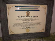 Cia - Career Commendation Commemorative Medal Certificate Type-1
