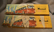 2 Vintage Ho Scale Trolley Bus System Boxes 1 Bus 15 Packs Poles Wires Sets