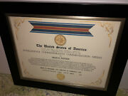 Cia - Intelligence Commendation Commemorative Medal Certificate Type-1