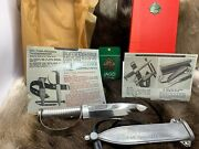 Pre 64 Vintage 6334 Frogman Diverand039s Knife With Silver Handle And Sheath Mint