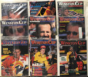 Winston Cup Illustrated Magazine Lot Of 9 1995 All Opened Vtg Nascar Racing