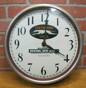 Greyhound Lines Wecome To Newark Nj Stomberg Chicago Usa Ad Old Sign Clock